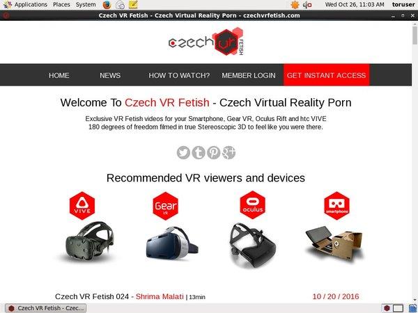 User Pass Czech VR Fetish