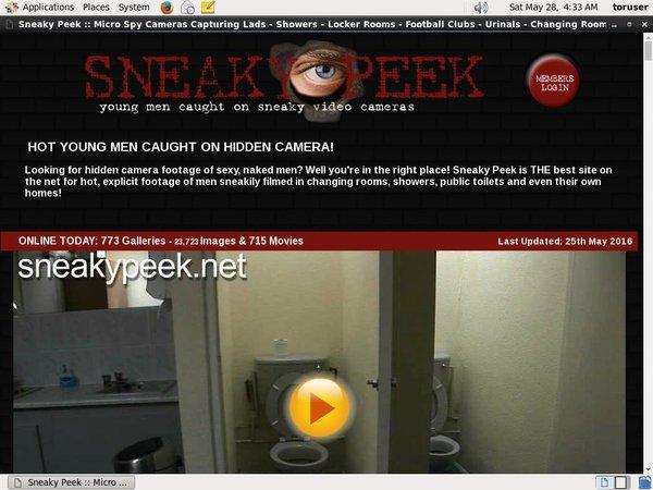 Sneaky Peek Limited Offer