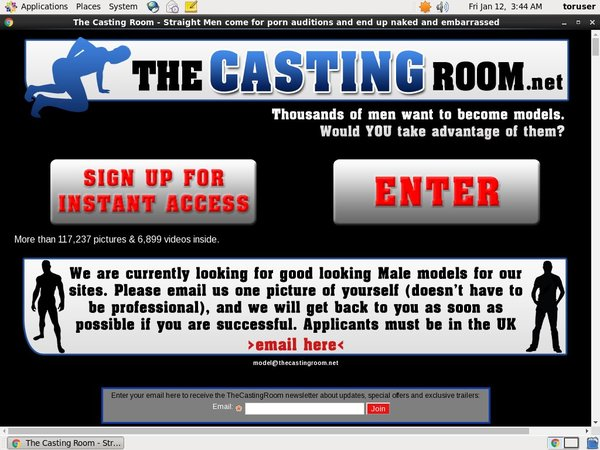 The Casting Room Paypal