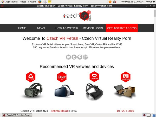 Free Czech VR Fetish User