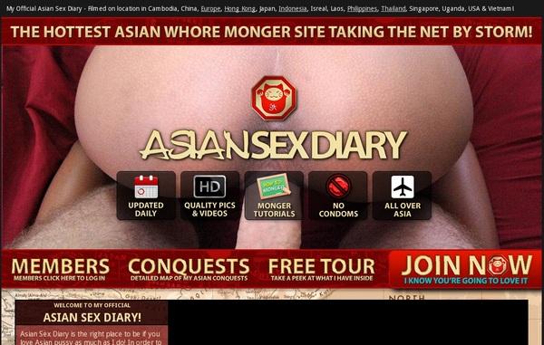 Login Asiansexdiary.com Free