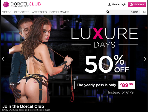Joining Dorcelclub.com