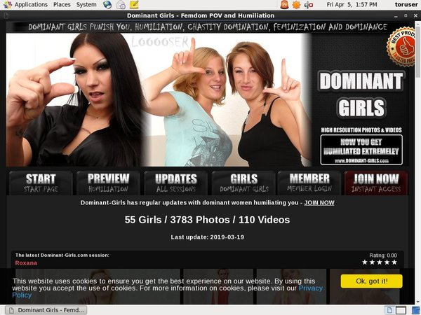 Login Dominant-girls.com Free